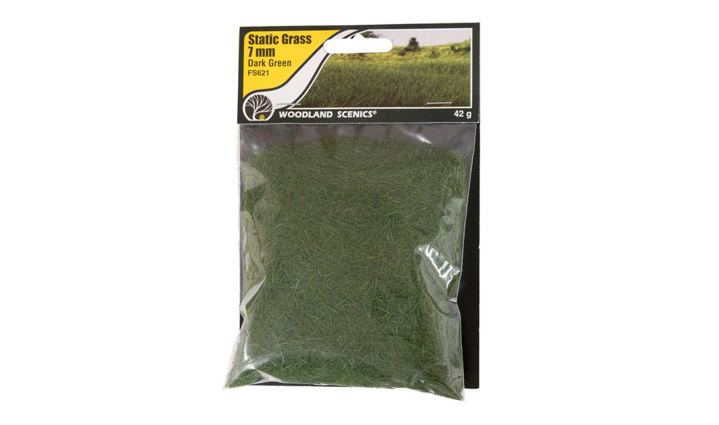 Static Grass Dark Green 7mm