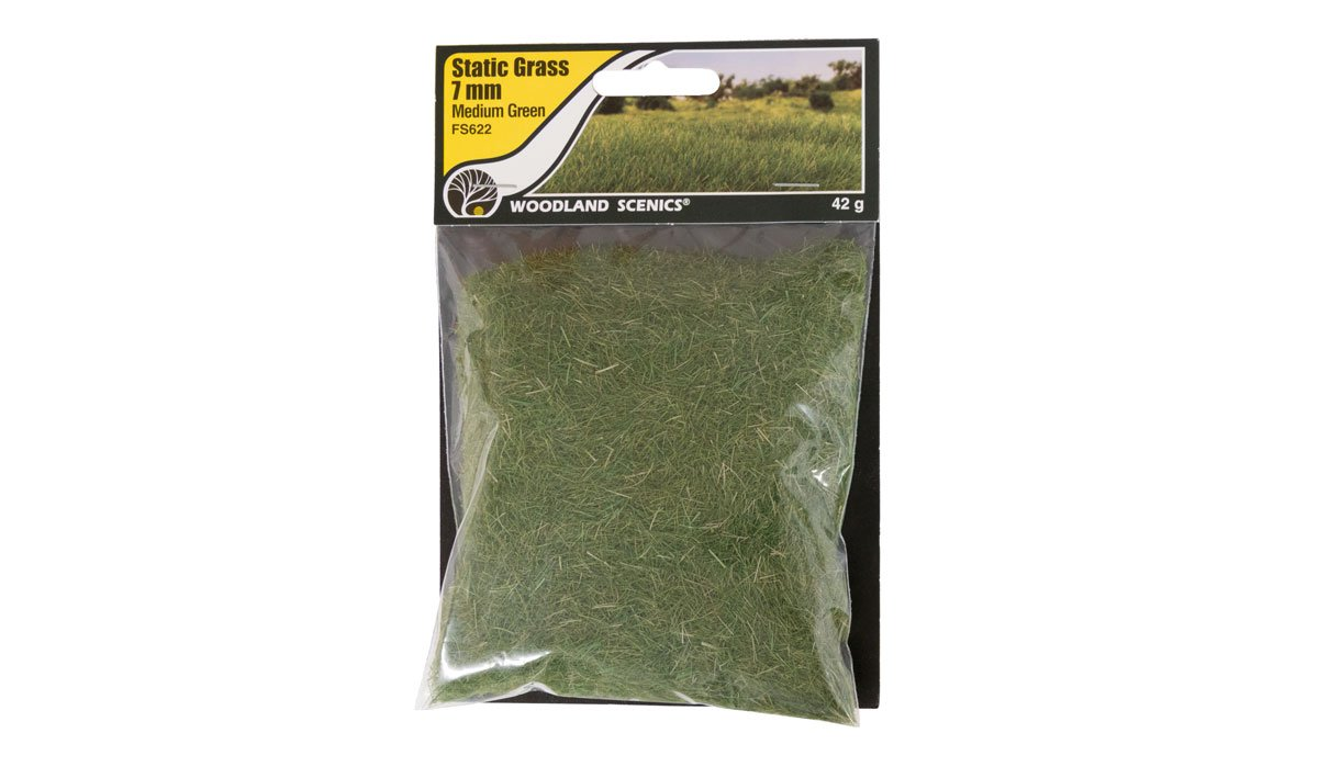 Static Grass Medium Green 7mm