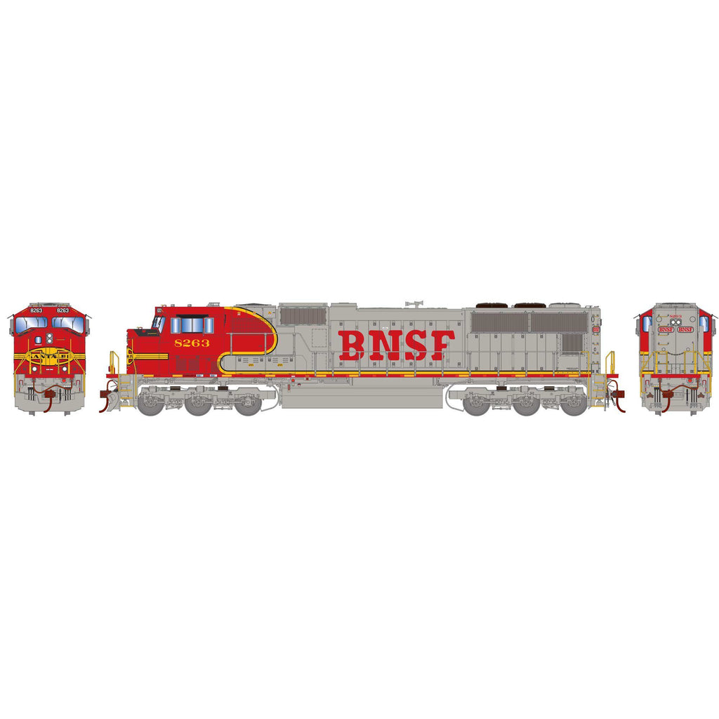 Athearn Genesis HO SD75M, BNSF/Warbonnet #8263