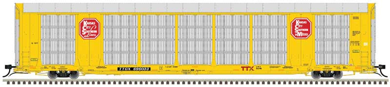 Atlas HO Gunderson Multi-Max Auto Rack, Kansas City Southern #696033