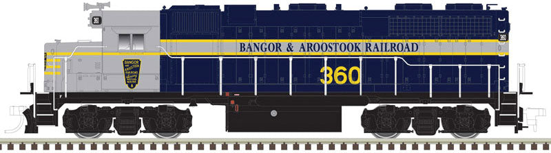 Atlas HO EMD GP38 Low Nose Bangor and Aroostook #350 - LokSound DCC