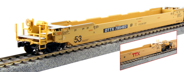 Kato HO Gunderson MAXI-IV 3-Unit Well Car Set - TTX New Logo #766519