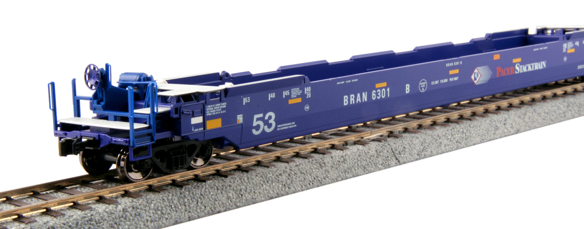 Kato HO Gunderson MAXI-IV 3-Unit Well Car Set - Pacer Stacktrain #6020