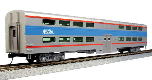 Kato HO Pullman Bi-Level 4 Window Coach -Chicago Metra #7780