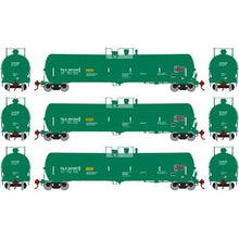 Load image into Gallery viewer, Athearn HO 28257 Green TILX 30,000 30k Gallon Ethanol Tank Car Set #2 (3)
