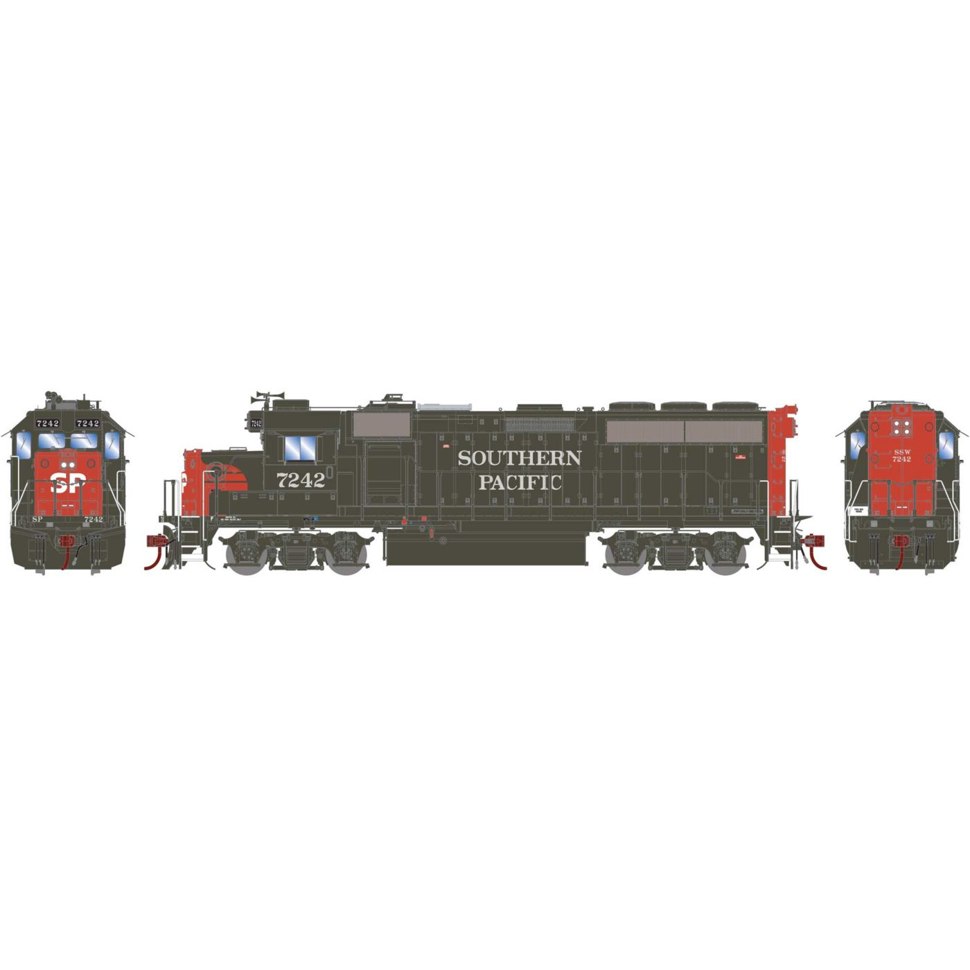 Athearn Genesis HO GP40-2 with DCC & Sound SP #7244