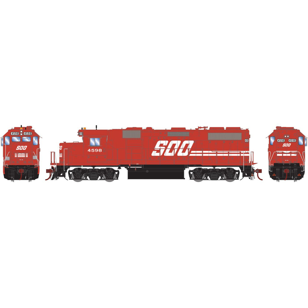 Athearn Genesis HO GP39-2 with DCC & Sound SOO Red #4598