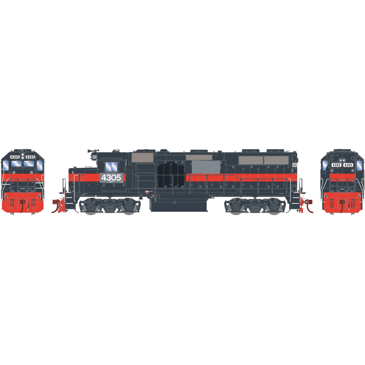 Athearn Genesis HO GP39-2 with DCC & Sound CSX ex Guilford #4305
