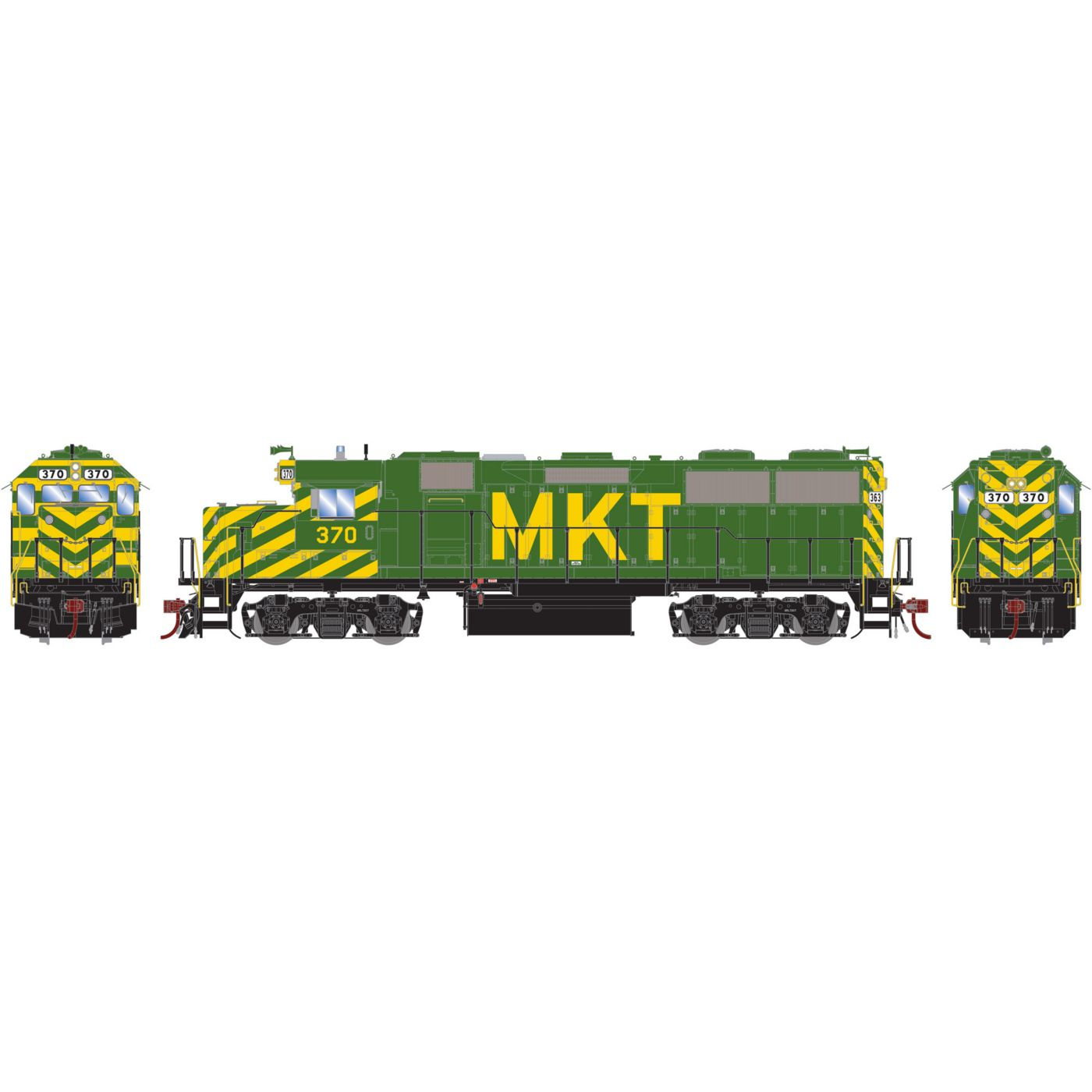Athearn Genesis HO GP39-2 with DCC & Sound MKT #370