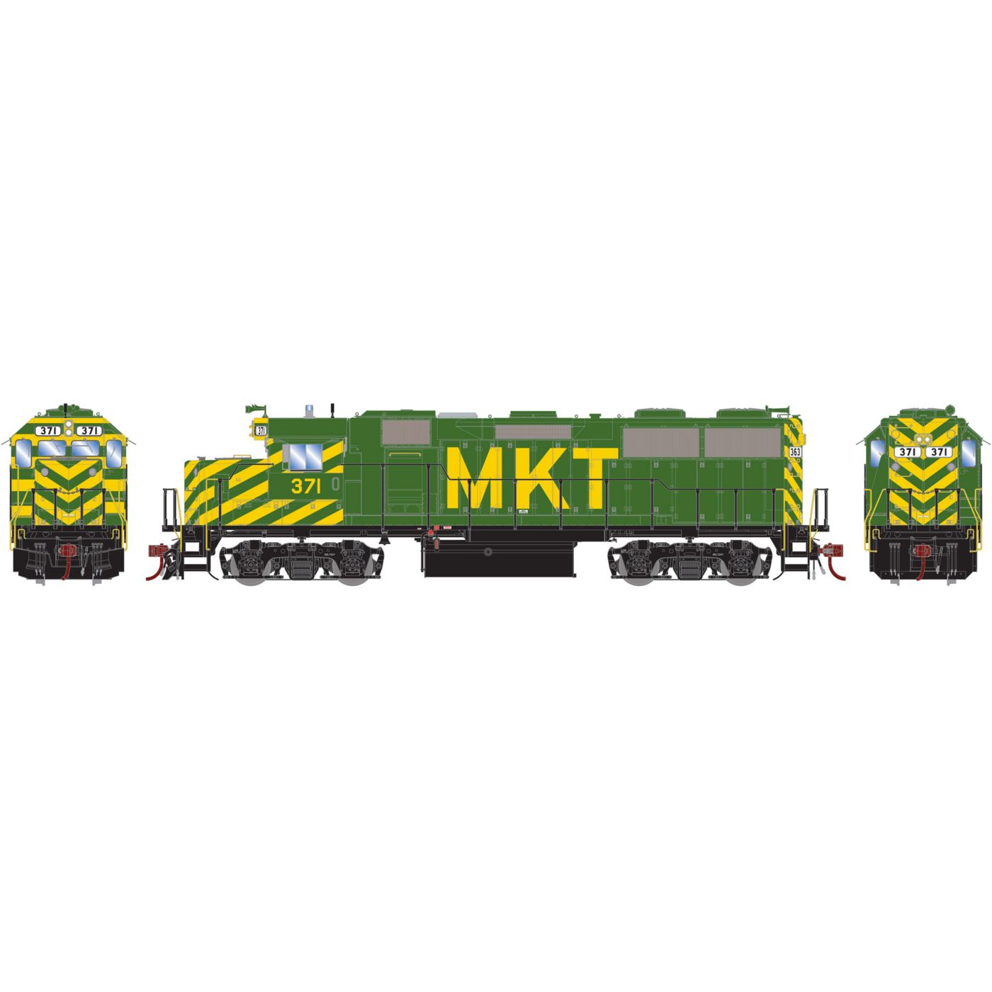 Athearn Genesis HO GP39-2 with DCC & Sound MKT #371
