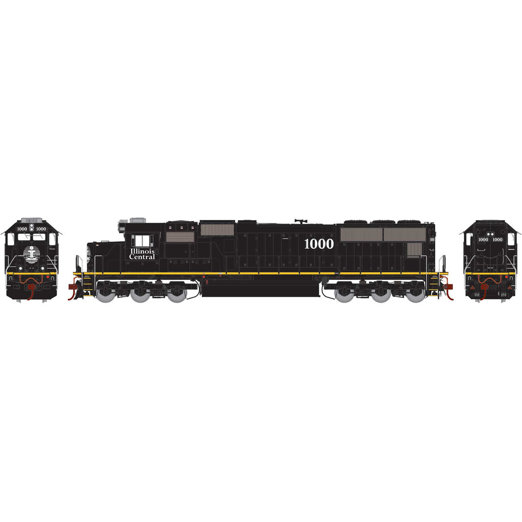 Athearn Genesis HO SD70 with DCC & Sound, IC/Yellow Stripe #1000