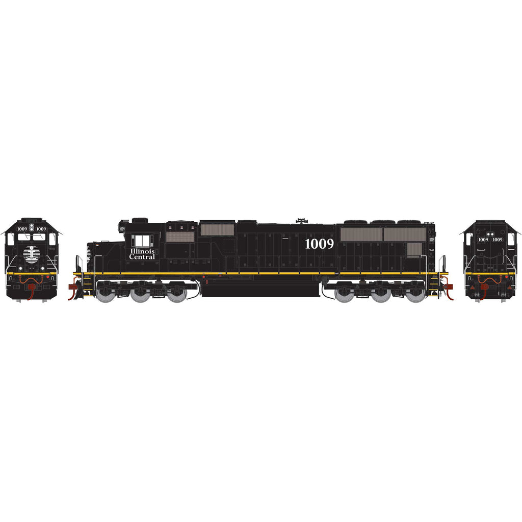 Athearn Genesis HO SD70 with DCC & Sound, IC/Yellow Stripe #1009
