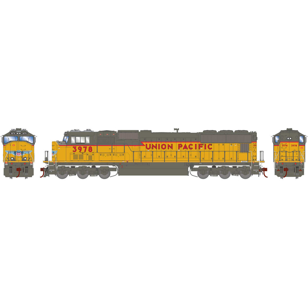 Athearn Genesis HO SD70M UP Union Pacific w/PTC (Ex SP) #3798 DCC Ready