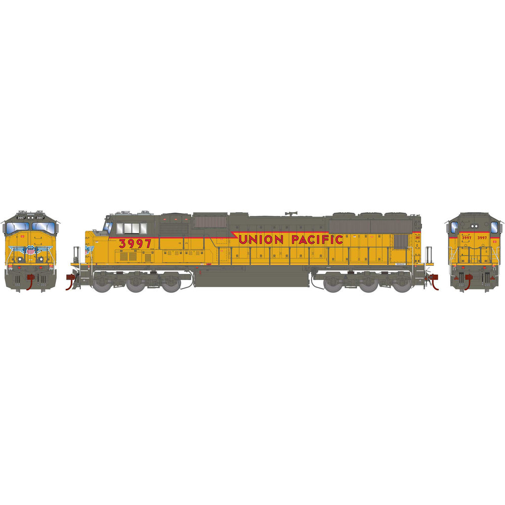 Athearn Genesis HO SD70M UP Union Pacific w/PTC (Ex SP) #3997 DCC Ready