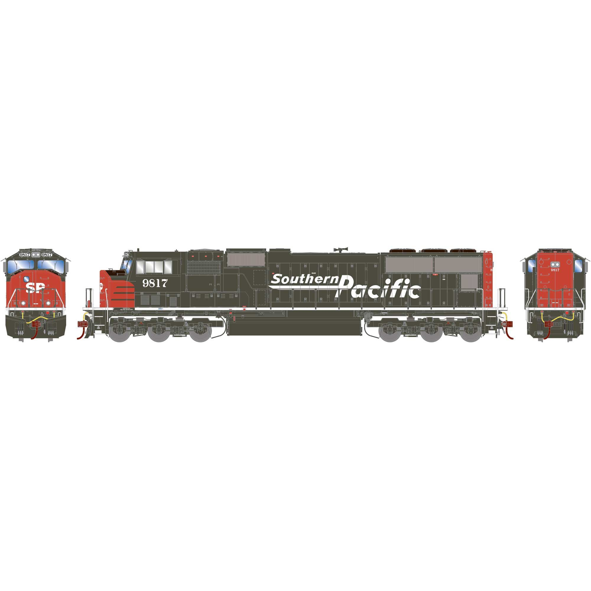 Athearn Genesis SD70M with DCC & Sound SP Southern Pacific #9817