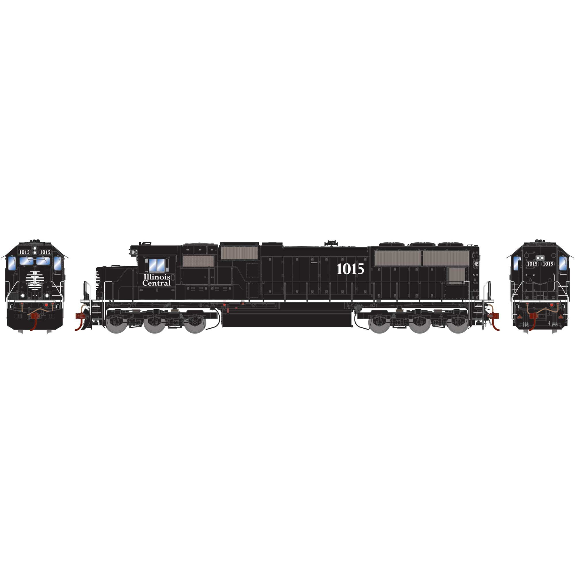 Athearn Genesis HO SD70 with DCC & Sound, IC/White Stripe #1015