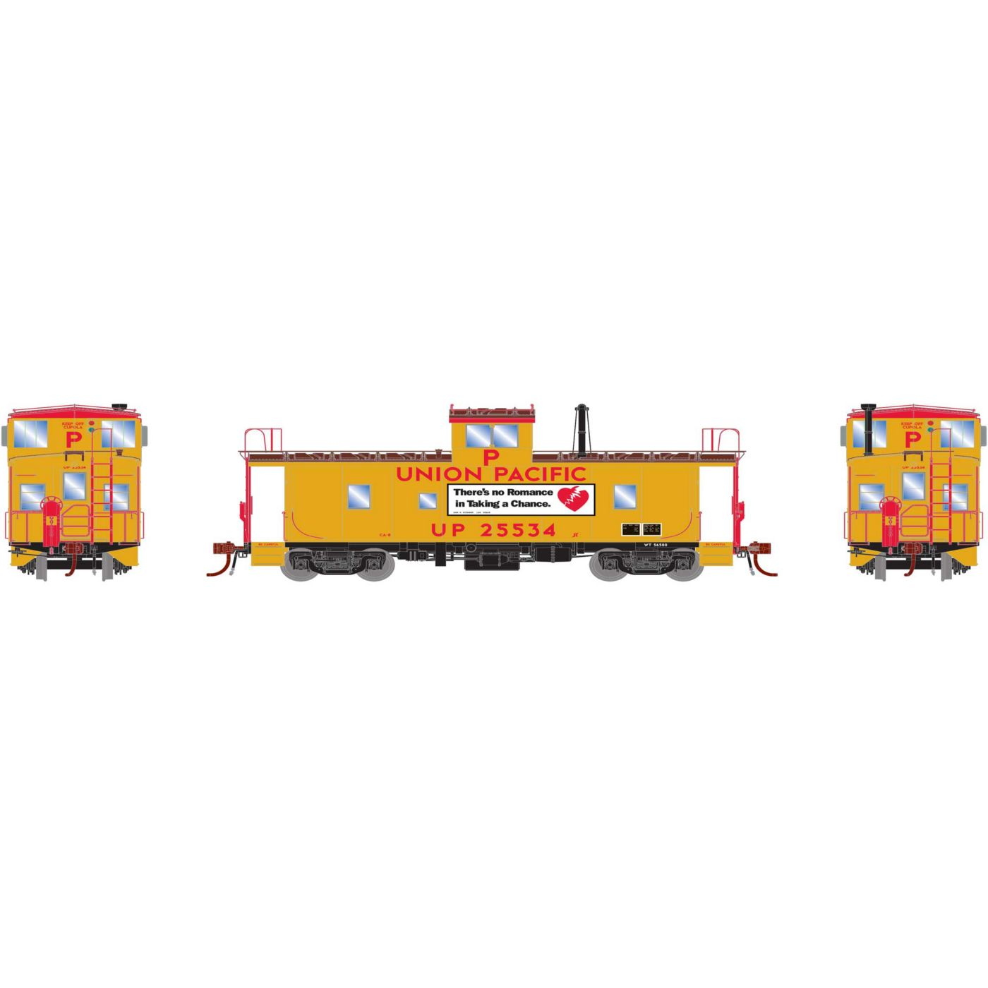Athearn Genesis HO ICC Union Pacific Caboose with DCC-Lights & Sound #25534