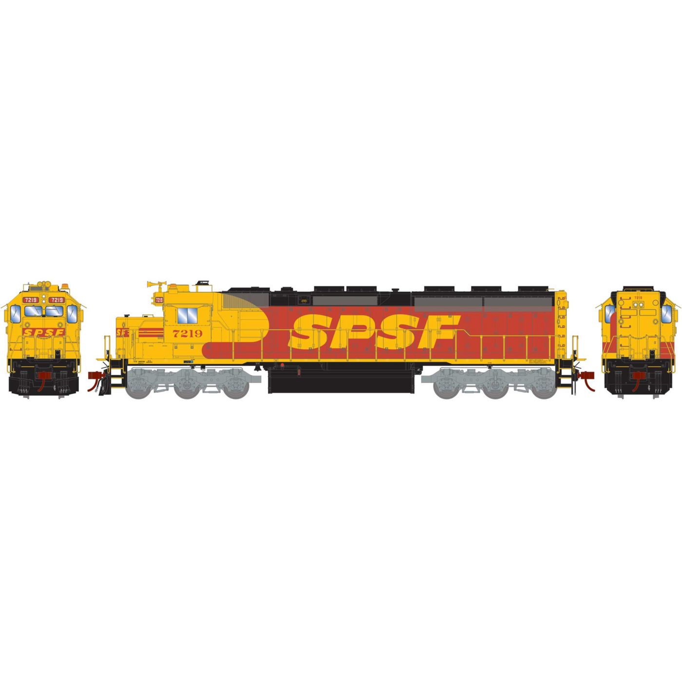 Athearn Genesis HO SD45-2 with DCC Ready SPSF #7219