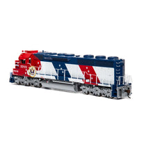 Load image into Gallery viewer, Athearn Genesis HO SD45-2 with DCC Ready Santa Fe Bicentennial #5703