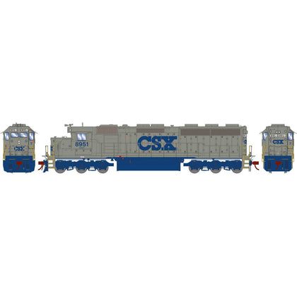 Athearn Genesis HO SD45-2 with DCC & Sound CSX Solid Grey #8951