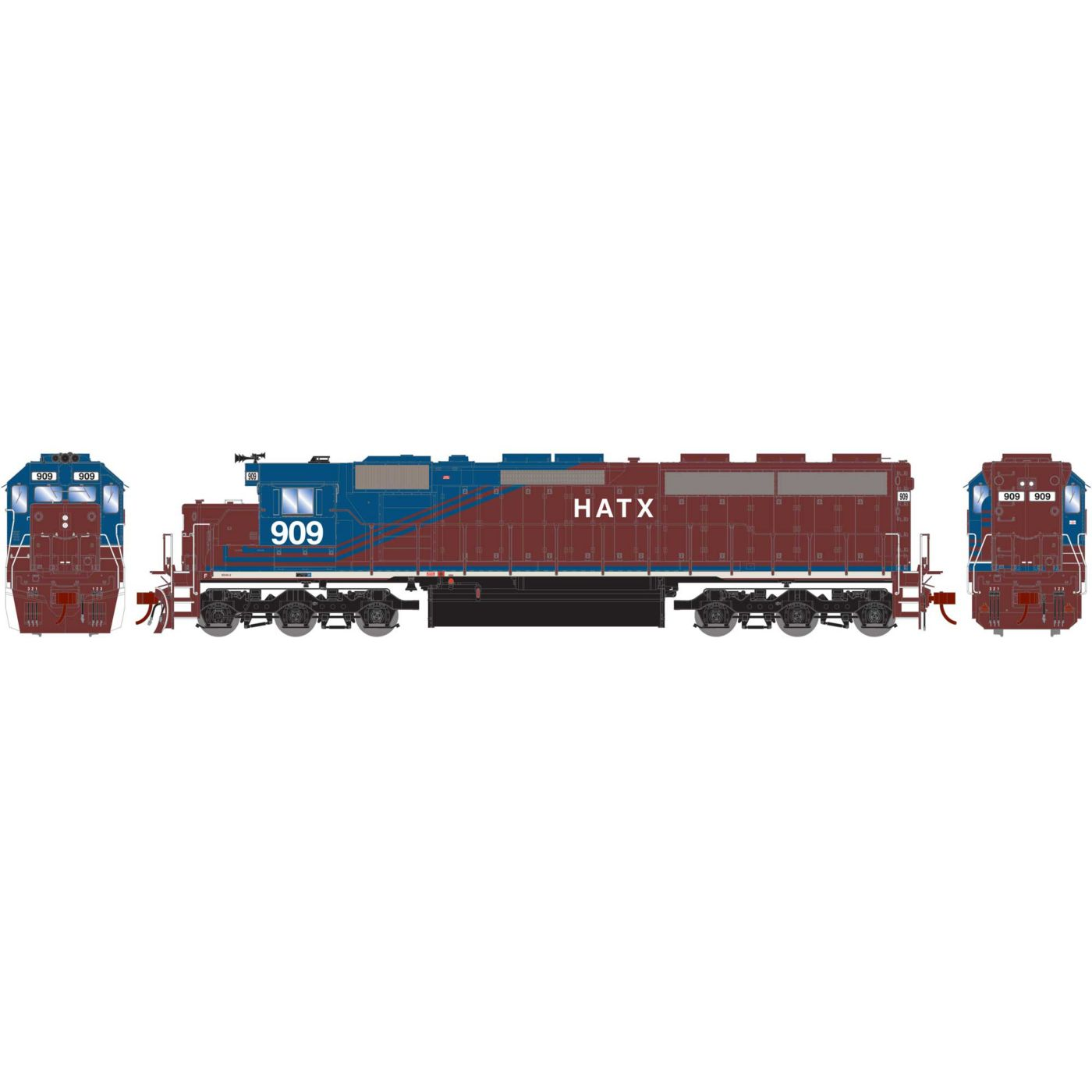 Athearn Genesis HO SD45-2 with DCC & Sound HATX #909
