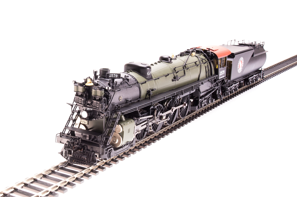 Broadway Limited Imports HO Great Northern Class S-2 4-8-4 Open Cab Brass Hybrid with Paragon3 w/ Smoke - #2581