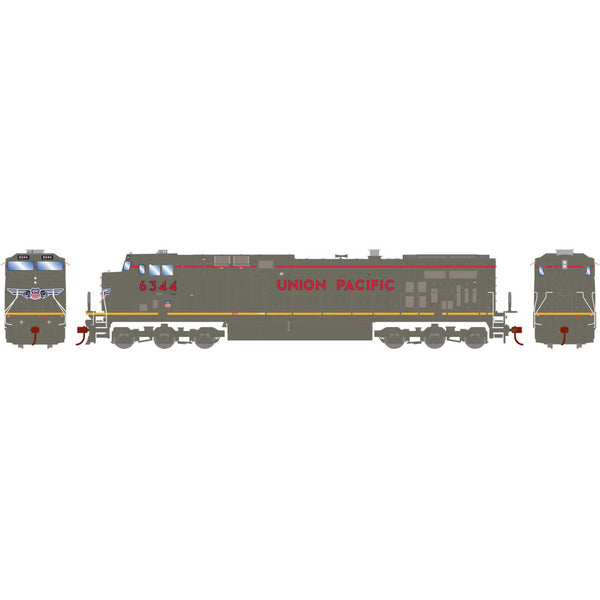 Athearn HO AC4400CW UP Grey Ghost #6344 DCC Ready