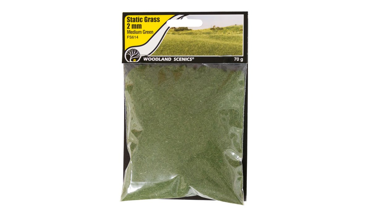 Static Grass Medium Green 2mm