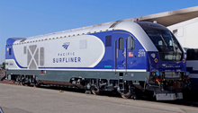 Load image into Gallery viewer, Bachmann Siemens Amtrak Pacific Surfliner #2111 SC-44 Charger WowSound(R) and DCC