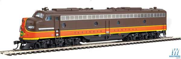 Walthers Proto HO EMD E8AA Set LokSound DCC and Sound Illinois Central #4018, 4023 (orange, brown, yellow)