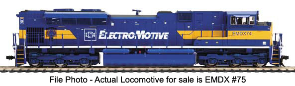 MTH HO Locomotive SD70M-2 Diesel EMD Demonstrator EMDX 75