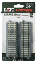 Load image into Gallery viewer, Kato 2-141 HO Scale Unitrack Concrete Ties straight line 123mm (4 pieces)