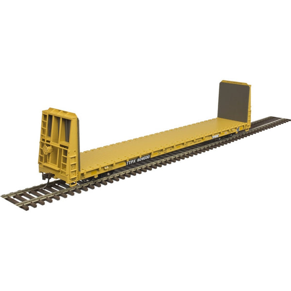 Atlas HO 20005080 TM 62' BULKHEAD FLAT CAR TTX W/STRIPES #804073