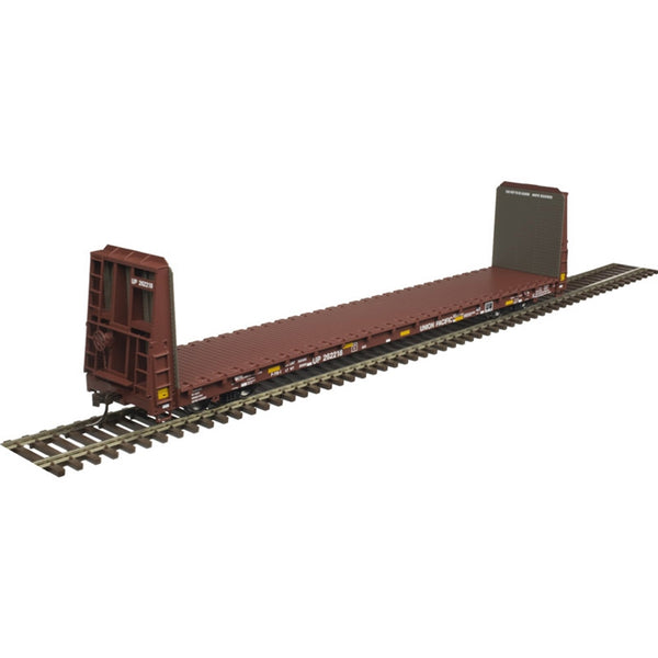 Atlas HO 20005083 TM 62' BULKHEAD FLAT CAR UNION PACIFIC W/STRIPES #262234