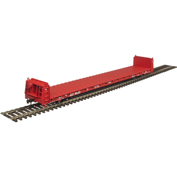 Atlas HO 20005084 TM 62' SHORT BULKHEAD FLAT CAR ALLEGHENY & EASTERN #91689