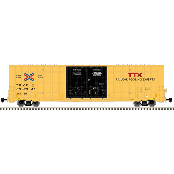 HO 60' GUNDERSON 7550 DOUBLE DOOR BOX CAR TTX #663810