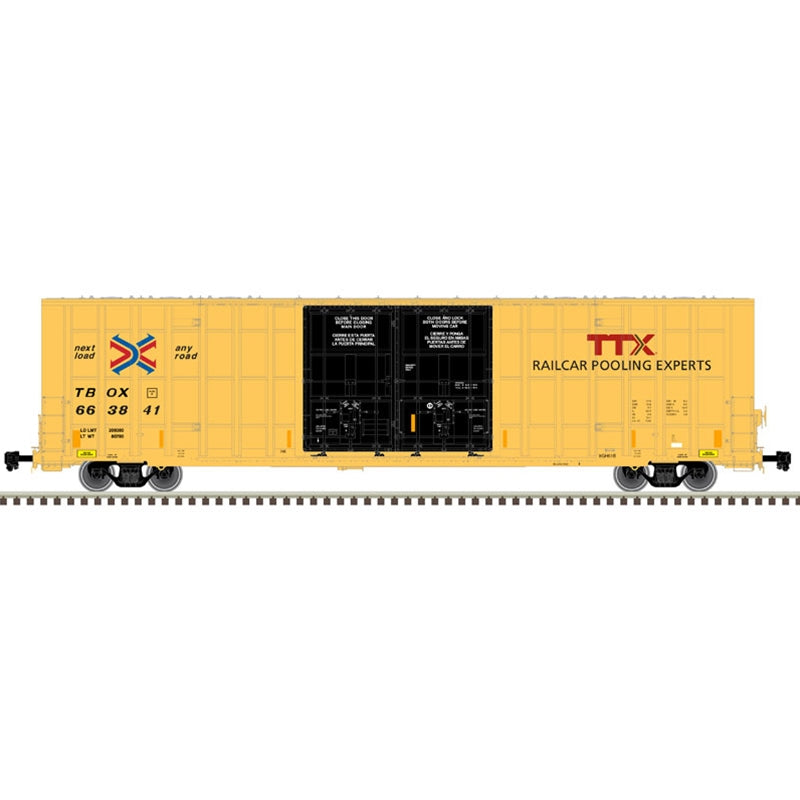 HO 60' GUNDERSON 7550 DOUBLE DOOR BOX CAR TTX #664391