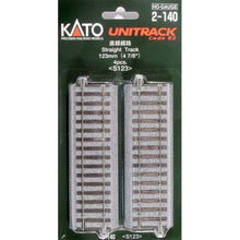 "Load image into Gallery viewer, Kato HO 2140 Unitrack 123mm 4-7/8"" Straight (4)"