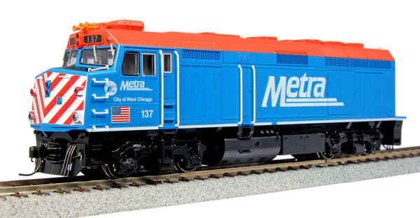 "Kato HO EMD F40PH #137 ""City of West Chicago"" w/DCC"