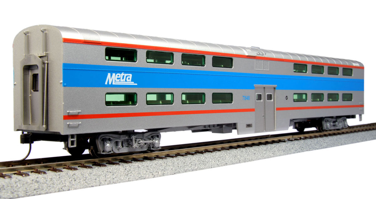 Kato HO Chicago Metra EMD F40PH w/ Bi Level Coach Starter Set