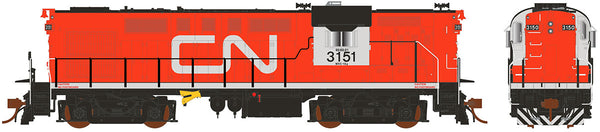 "Rapido HO Scale MLW Canadian National ""CN"" Tempo RS18 #3153 Locomotive DCC Ready"