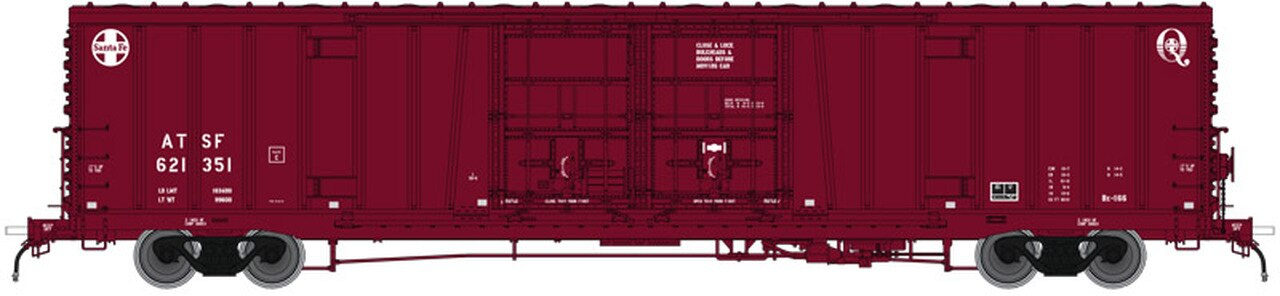 Atlas HO 20004946 BX-166 Box Car Santa Fe Plain (Early Q Logo) 621351