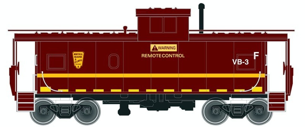 Atlas Master Line HO Standard Cupola Caboose, Montreal Maine and Atlantic #VB-3