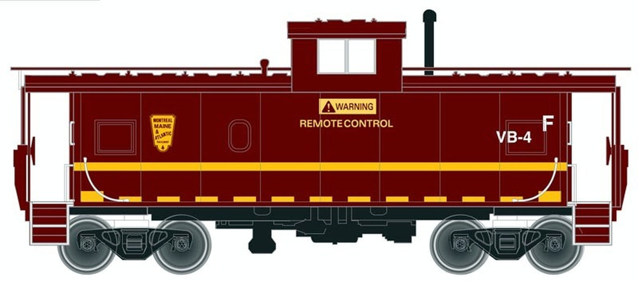 Atlas Master Line HO Standard Cupola Caboose, Montreal Maine and Atlantic #VB-4