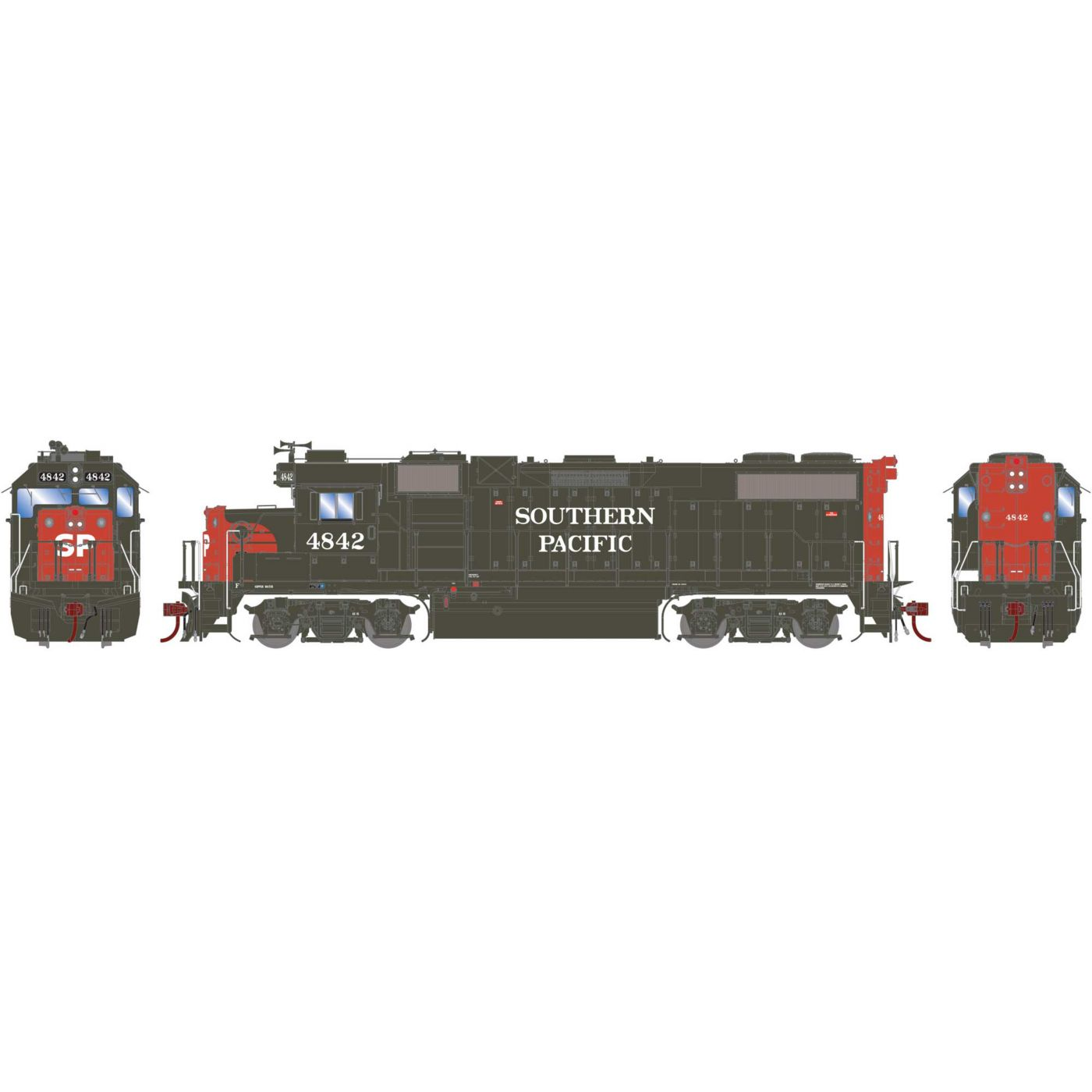 Athearn Genesis HO GP38-2, Southern Pacific #4842 DCC/Sound