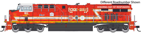 Walthers HO CSX ES44 #911 First Responders Commemorative Unit-ESU LokSound equipped