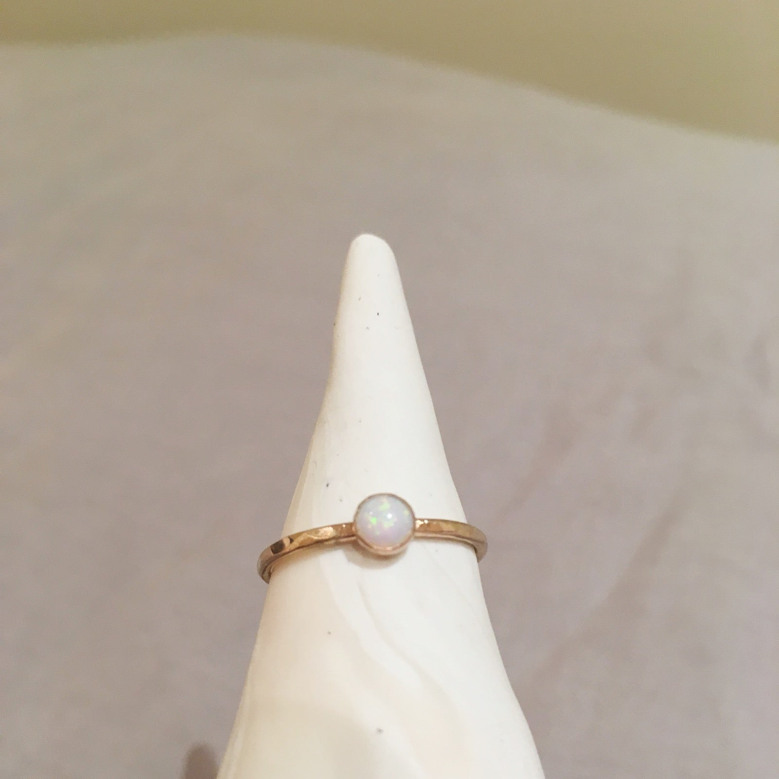 14k Gold-Fill Stacking Ring with Opal
