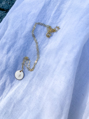 14k Gold Filled Initial Necklace