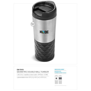 Geometric Double Wall Tumbler - 480Ml