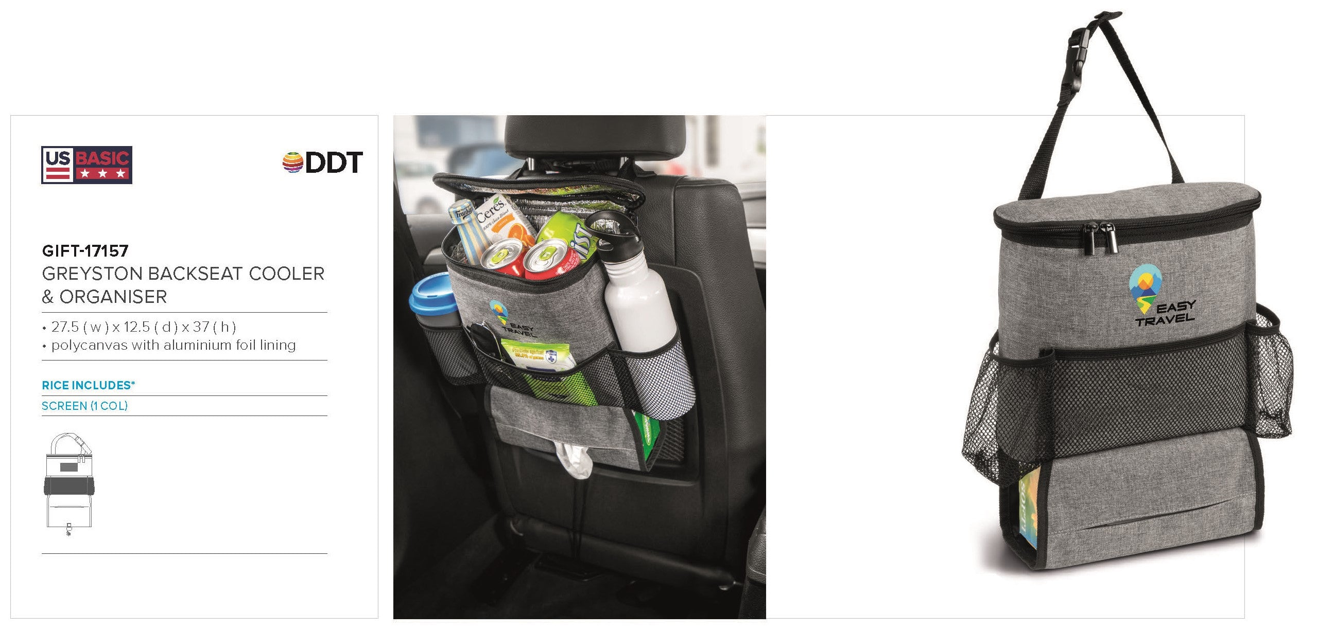 Greyston Backseat Cooler & Organiser